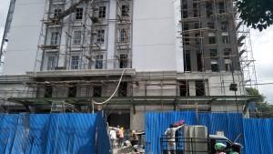 Sisi Utara gedung sepanjang 25 meter